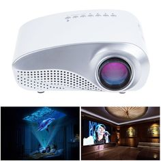 Amazon.com: MeGooDo LED Mini Portable Projector Fashionable Home Theater for Video Games TV Movie TXT Music: Computers & Accessories
