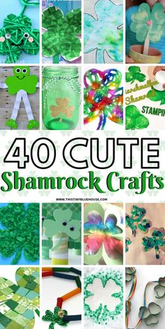 Here are 40 adorable and easy Shamrock Crafts For Kids that are the perfect way to celebrate St Patrick's Day. Here are 40 adorable and easy Shamrock Crafts For Kids that are the perfect way to celebrate St Patrick's Day. Diy St Patrick's Day Crafts, St Patricks Day Crafts For Kids, March Crafts, Fun Crafts For Kids, Toddler Crafts, Preschool Crafts, Holiday Crafts, Blue Crafts, Easy Crafts