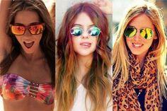 foto oculos femininos espelhados