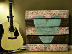 Shabby Chic - Wall Art - Sign - Wedding Sign - Rustic Wall Decor - Large Pallet Art - All You Need Is Love - Choice of Colors. $350.00, via Etsy.