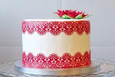 La repostera te enseñará cómo hacer encaje comestible para tartas ...