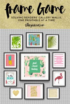 Frame Game: Beachy Keen Gallery Wall for a Preppy Collegian • Little Gold Pixel