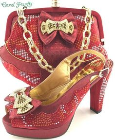 OLAMICH Women Matching Italian Shoe and Bag Set Decorated with Rhinestone  Italian Shoes 64c4ff4b825d