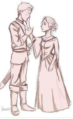 Chaol and Celaena by the amazing linneart