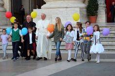 """""""Happy Families are essential for Church and Society"""" #PopeFrancis with Archbishop Paglia of the Pontifical Council for the Family, St. Peter's Square #Family #Synod14"""