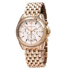 1baf5f6cbad2 Michael Kors Women's Chronograph Watch - Pressley Rose Gold Steel Bracelet  | MK5836