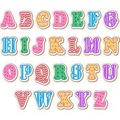 Vinilo Infantil abecedario texturas, estrellas, líneas y circulitos
