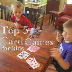 Favorite Card Games for Young Kids