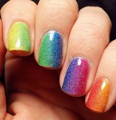 Colorful nail design