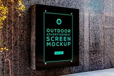 Free Outdoor Advertising Screen Mockup | HeyDesign Graphic Design & Typography Inspiration