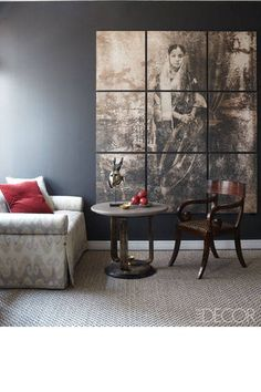 Don't be intimidates—a big, windowless wall can be the perfect canvas for creative ideas.
