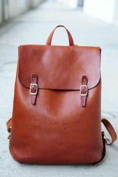 sac à dos pas cher femme en cuir marron