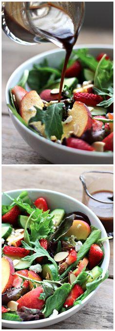 Strawberry Peach Salad