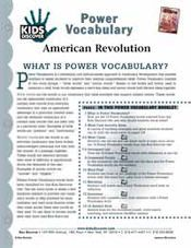 FREE 16-page Downloadable Vocabulary Packet for Kids Discover American Revolution.