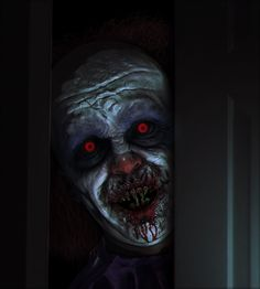 wanted to create a scary clown since last year when the new IT clown image was released. I hope you like it =) Horror Photography, Dark Photography, Dark Artwork, Horror Artwork, Scary Art, Scary Faces, Creepy Pictures, Creepy Clown, Evil Clowns