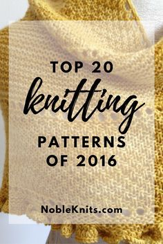 Top 20 Knitting Patterns of 2016