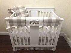 Baby Boy Mini Crib Bedding, Buffalo Plaid Mini Crib Baby Bedding,  Mini Crib Rail Cover Mini Crib Bedding, Baby Girl Bedding, Crib Sheets, Baby Boy Nurseries, Baby Cribs, Crib Rail Cover, Boppy Cover, Cotton Sheets, Buffalo Plaid