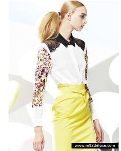 Floral-print chiffon shirt | M98deluxe