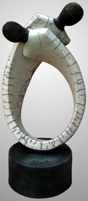 dualis7, raku-ceramic, h = 40 cm