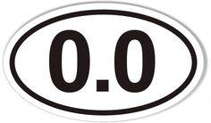 0.0 Euro Oval Sticker 3x5 $4.95