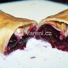 Palačinky recept - Vareni.cz Breakfast Recipes, Dessert Recipes, Dinner Recipes, Desserts, Pancakes And Waffles, Let Them Eat Cake, Sweet Recipes, Blueberry, Brunch