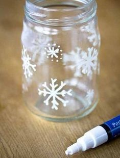 We made these a couple of years ago, it is very easy you just need tip-ex and a jar. If you get plain brown wrapping paper to rap up all your prezzies then you can decorate it - Robyn xx