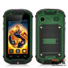 2.4 Inch Small Rugged Smartphone with 2MP Rear Camera - Android 4.2 OS, Earphones, Water Resistant (Green) #ruggedphone #minirugged #smartphone #waterproofphone
