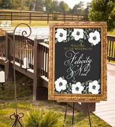 Chalkboard Wedding Sign Printable Spring Wedding by nelladesigns