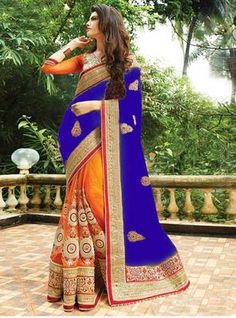 Buy Party wear Sarees Online with All Types Collections Like Designer Party Wear saree,Bollywood party wear saree,Silk Party wear saree,wedding party wear saree and More. Shop Now And get Discount Up to Off Cash on Delivery available ! Indian Designer Sarees, Indian Sarees Online, Lehenga Choli Online, Designer Sarees Online, Orange Saree, Yellow Saree, Net Saree, Georgette Sarees, Lehenga Saree