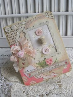shabby chic sewing spool for sewing friend Amazing you by cherryjn, $8.50 - This is super cute!