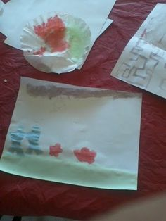 Scratch and Sniff Edible Kool-Aid Water Color Painting. Smells yummy and tastes good too.