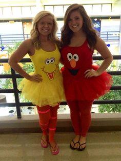 DIY Big Bird and Elmo Sesame Street