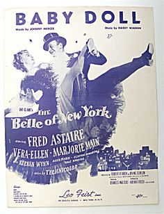 Sheet Music For 1951 Baby Doll (Fred Astaire Cover)