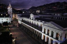 Carondelet Palace main facade. Quito, Ecuador.