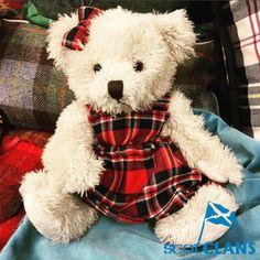 Wee Morag Ancestral Bear in MacFarlane Tartan. Free worldwide shipping available