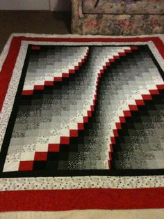Bargello Wave Quilts by JanssenCreations on Etsy, $100.00