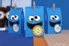 Favors at a Cookie Monster Party #cookiemonster #partyfavors
