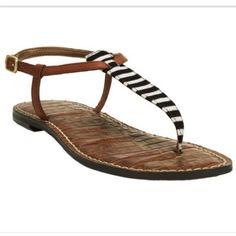 8fdda9c99e2f Sam Edelman Gigi Stripe T-Strap Flat Sandal  65 Sam Edelman Gigi