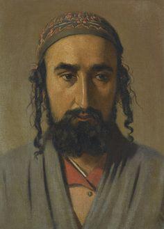 Vasili Vasilievich Vereshchagin (Rusian, 1842-1904) Portrait of a Jewish merchant, oil on canvas, 23 x 14,8cm.