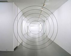 """"""" Anamorphic paintings by Felice Varini """" Felice Varini is a Swiss artist known for his geometric perspective-localized paintings in rooms and other spaces, using projector-stencil. Art Optical, Optical Illusions, Projection Installation, Perspective Art, Forced Perspective, Photoshop, Circle Art, Paris Ville, Art Moderne"""