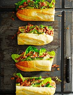 Asian ham baguette with spicy cucumber Asian flavours and pickled cucumber give this ham baguette a spicy kick. It's really easy to make in half an hour, so a perfect lunchtime treat or quick dinner recipe