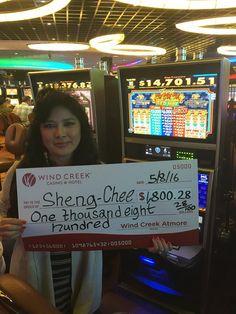 Ms. Sheng Chee was so excited about winning a Jackpot! #WinningMoment #WindCreekAtmore