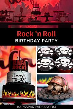 Rock 'n Roll Birthday Party Trolls Birthday Party, 1st Birthday Cakes, Adult Birthday Party, 1st Birthday Girls, Birthday Ideas, Rock And Roll Birthday, Rockstar Birthday, Music Party Decorations, Birthday Girl Pictures
