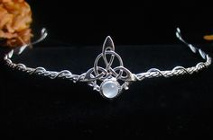 The Celtic Trinity of Life Circlet - Camias Jewelry Designs Specializing in Wedding Circlets, Bridal Headpieces, Celtic Circlets, Bracelets, Pendants, Arm Wraps and Neck Torcs
