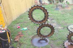Gear Art  Industrial Art  Scrap Metal Sculpture by RecycledSalvage, $850.00