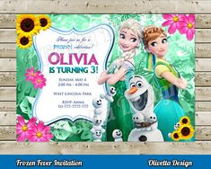 Hey, I found this really awesome Etsy listing at https://www.etsy.com/listing/227312320/frozen-fever-invitation-for-birthday