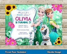 Frozen Fever Kit Imprimible Personalizado por OlivettaDesign