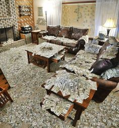 Withdrawing Large Amounts of Money | ... Room Filled with An Obnoxious Amount of Money by... | We Heart It