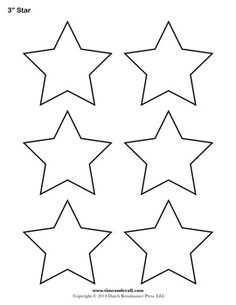 "Multiple sizes of star template pages on this site, including sizes 1"", 1.5"", 2"", 3"", 4"", 5"", 6"", 7"""