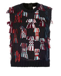 Sea EXCLUSIVE Confetti Side Cut Out Knit: A confetti of fringe details the…
